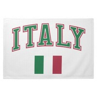 Italy + Flag Kitchen Towels