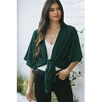 Hailey Knit Tie Front Top