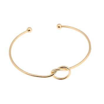 Gold Tie The Knot Bangle