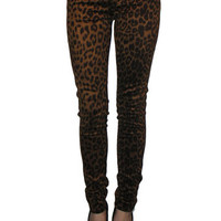 Faux Suede Leopard Jean from Tripp NYC