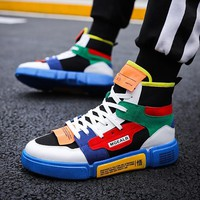 Hip hop sneakers Men Flats Shoes Breathable Fashion Men Casual kanye justin high top Shoes Zapatos Hombre Footwear