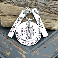 Personalized Memorial Necklace I'll Miss Your Life In Mine In Loving Memory Remembrance Jewelry Loss of multiples Miscarriage