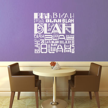 Blah Blah Blah Wall Decal