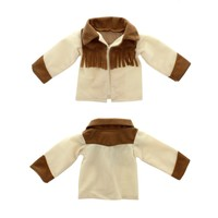 """Doll Clothes Fits American Girl 18"""" Inch Outfit Jacket Cowgirl Brown"""