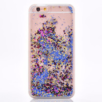 Blue and Gold Cascading Glitter Case for iPhone