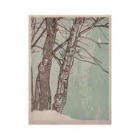"""Sam Posnick """"Winter Trees"""" KESS Naturals Canvas (Frame not Included)"""