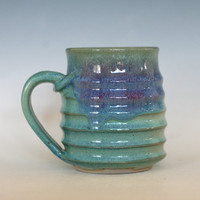Pottery Coffee Mug, 14 oz, unique coffee mug, ceramic cup, handthrown mug, stoneware mug, wheel thrown pottery mug, ceramics and pottery