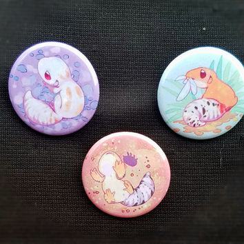 Leopard Gecko buttons from HamburgerParty