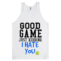 Good Game no just kidding softball tank top tee t shirt