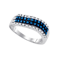 Diamond Fashion Ring in White Gold-plated silver 0.47 ctw