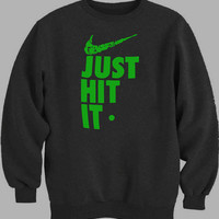 just hit it Nike Parody Pipe Weed 420 419 Humor Sweater for Mens Sweater and Womens Sweater ***