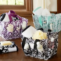 Damask Bath Beauty Bin