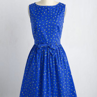 Turn Over a New Reef Dress in Parakeets | Mod Retro Vintage Dresses | ModCloth.com
