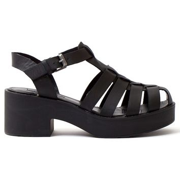 WINDSOR SMITH Lily Black Leather