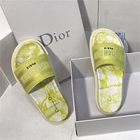 Dior summer new women's outer wear sandals slippers shoes