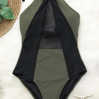 Cupshe Take My Heart Mesh One-piece Swimsuit
