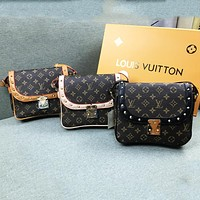 LV Louis Vuitton tide brand female classic print messenger bag fashion retro shoulder bag Messenger bag