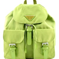 Nylon Sports Girl Mini Backpack - Green
