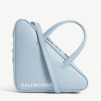 BALENCIAGA Triangle extra-small leather shoulder bag