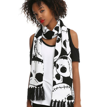 The Nightmare Before Christmas Jack Face Knit Scarf