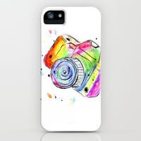 Watercolor Camera iPhone Case by Trinity Bennett
