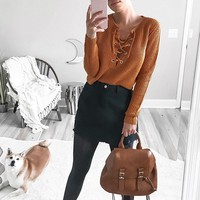 Contemporary Sweater-Knit Top