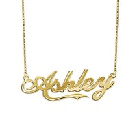 Fancy Script Name Necklace
