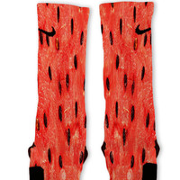 Summer Watermelon Custom Nike Elite Socks