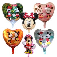 10pcs Mickey Minnie Mouse Love Balloons Helium Air Balloon Wedding/Birthday Party Balloons For Baby Birthday Decoration
