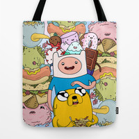 Adventure Time Tote Bag by Laura O'Connor