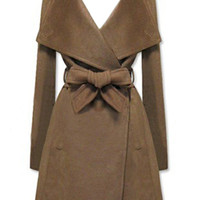 ROMWE | New Style Lapel Brown Coat, The Latest Street Fashion