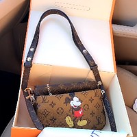 LV x DISNEY Vintage Presby Joker Shoulder Bag Crossbody Bag Two-Piece Set