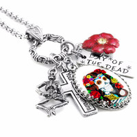 Colorful Day of the Dead Necklace