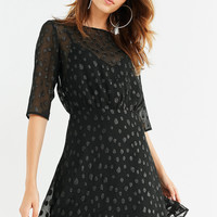 ISLA The Resistance Sheer Polka Dot Dress   Urban Outfitters