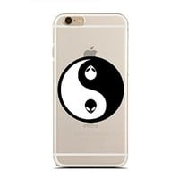 Clear Snap-On case for iPhone 5C - Vintage Floral Yin Yang - Hipster (C) Andre Gift Shop
