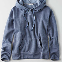 AEO Signature Graphic Pullover Hoodie , Light Blue