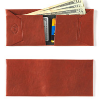 Leather Wallet in Mahogany