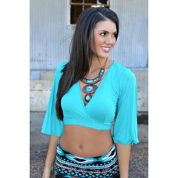 Turquoise Free Spirit Crop Top