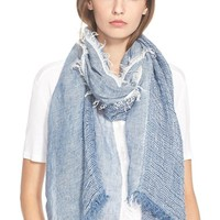 Women's rag & bone 'Beacon' Linen Scarf