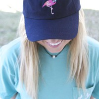 Jadelynn Brooke Flamingo Hat in Navy FLAMINGO-HAT