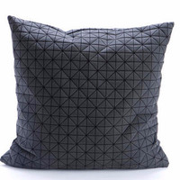 Black Geometric Pillow
