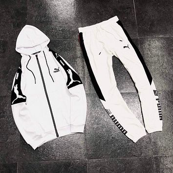 Fashion 2020 new color matching letter printing sports suit two-piece