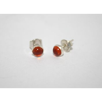 Sterling Silver Earrings, Stud Earring, Fire Quartz Earring