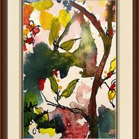 """Abstract Songs of Nature Watercolor"" by Ginette Callaway"