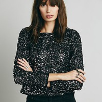 Free People Womens Step to the Back Top - Black