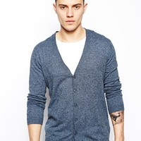 ASOS Cardigan In Cotton - Denim twist