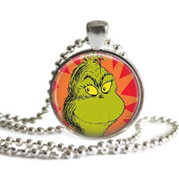 The Grinch Who Stole Christmas Silver Plated Picture Pendant Necklace