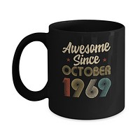 Awesome Since October 1969 Vintage 51th Birthday Gifts