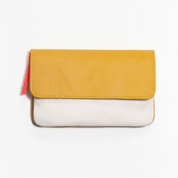 & Other Stories | Clare Vivier Leather Wallet | Yellow