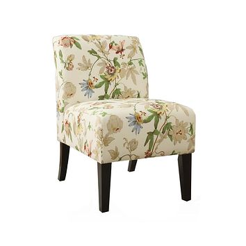 """Accent Chair - 30'.5"""" X 22'.5"""" X 33'.5"""" Floral Pattern Upholstered Accent Chair"""